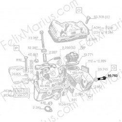 Vis HM7X55 - 050753 -  Moteurs W112, W112bis, W112ter